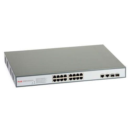 2216af Switch zarządzalny 16xPoE 2xGbit 2xSFP ULTIPOWER, 2216af
