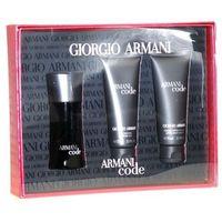 black code m zestaw perfum edt 50ml + 75ml balsam po goleniu + 75ml żel pod prysznic wyprodukowany przez Giorgio armani