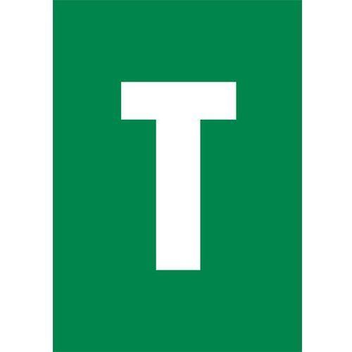 Litera T (biały/zielony)
