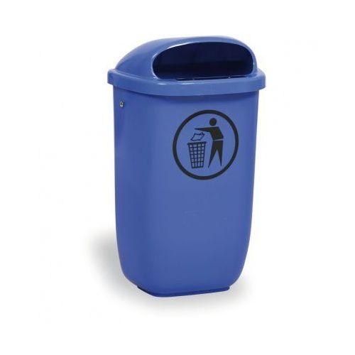 Inteligentny Zewnętrzny kosz na odpady na słupek dino, niebieski (B2B Partner AY98