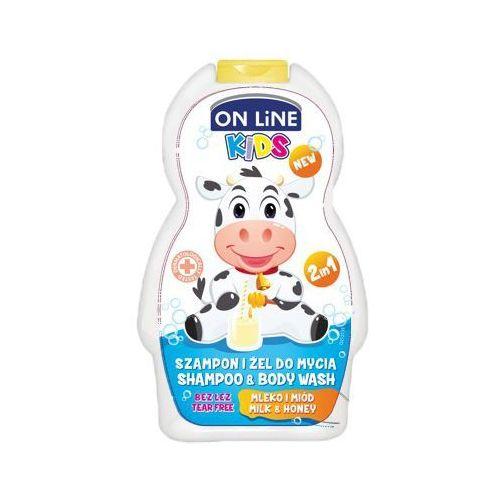 On Line, Kids. Szampon 2w1 Mleko i miód, 250ml - On Line