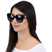Okulary przeciwsłoneczne damskie kocie oko czarne