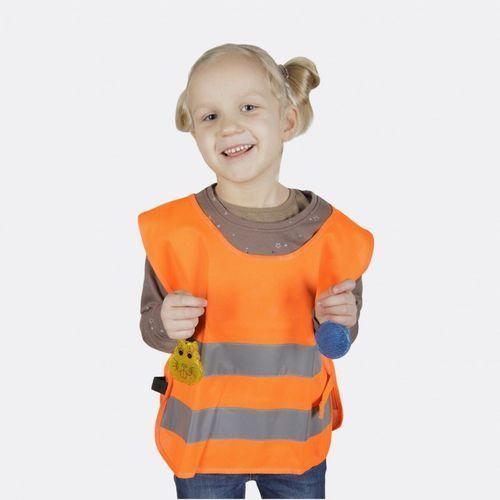 Kamizelka odblaskowa dla dzieci s 110-121cm - s \ pomarańczowy marki Kamdo