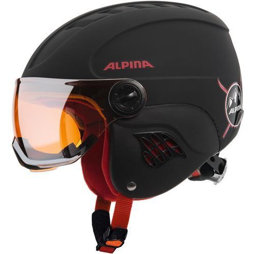 Alpina Carat LE Visor HM Black Red Matt 51-55