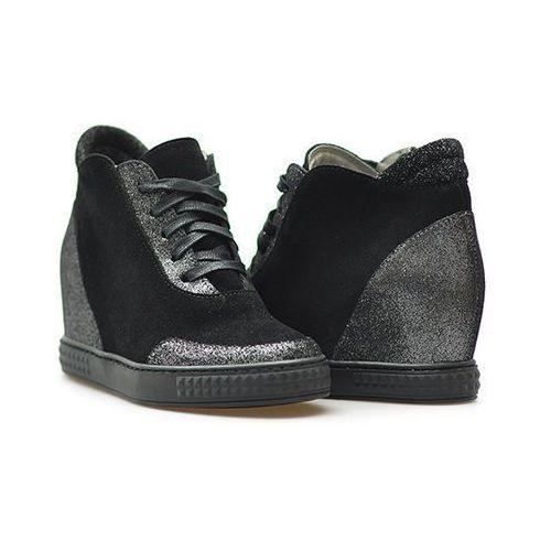 8fa539877491d Botki Sneakersy 2417 nero-arg czarne, VeneziaFuksik.pl