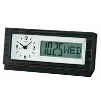 Zegar biurkowy qxl011b z datownikiem marki Seiko