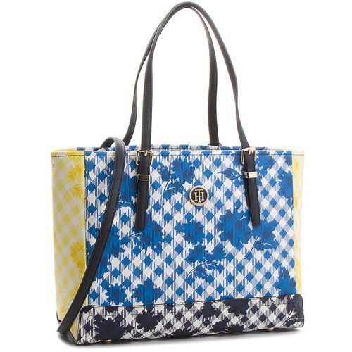 4660a80208b59 Torebka - Honey Med Tote Gingham Mix AW0AW05382 907 (TOMMY HILFIGER ...