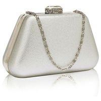 Wytworna srebrna torebka wizytowa na wesele na ślub - srebrny