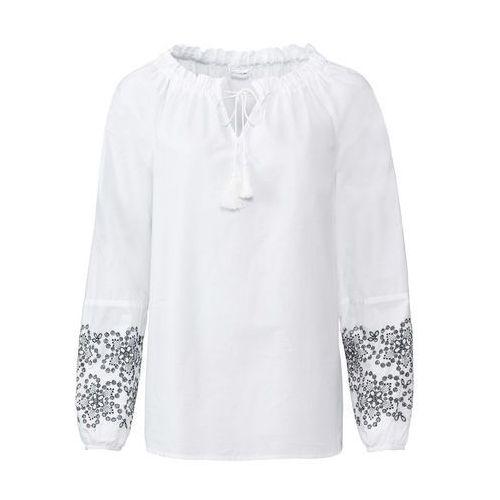 1dfea7e730c9be Bluzka z ażurowym haftem: must have biały marki Bonprix - Galeria produktu