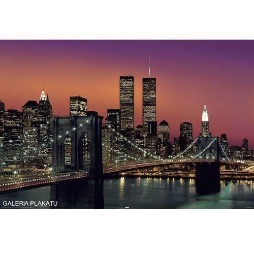 New York Brooklyn Bridge Nocą Plakat Reinders