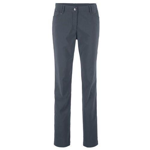 Spodnie ze stretchem i ozdobnym elementem bonprix biały