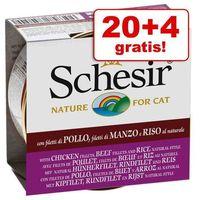 Schesir 20 + 4 gratis! natural z ryżem, 24 x 85 g - czysty tuńczyk i kurczak z ryżem (8005852750501)