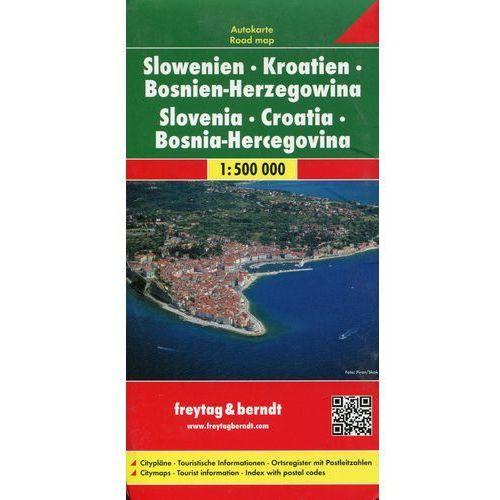 Słowenia Chorwacja Bośnia i Hercegowina. Mapa 1:500 000 (1 str.)