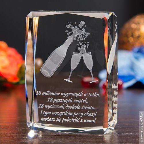 Szampan 3D ♥ średni kryształ 3D ♥ GRAWER 3D