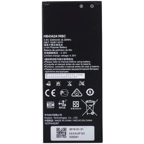 y6 / hb4342a1rbc 2200mah 8.36wh li-polymer 3.8v (oryginalny) marki Huawei